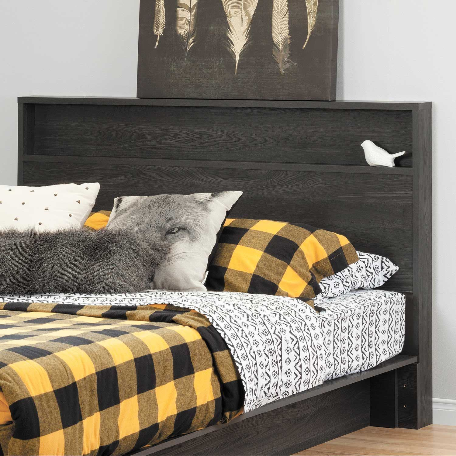 Picture of Holland Gray Oak Full/Queen Platform Bed