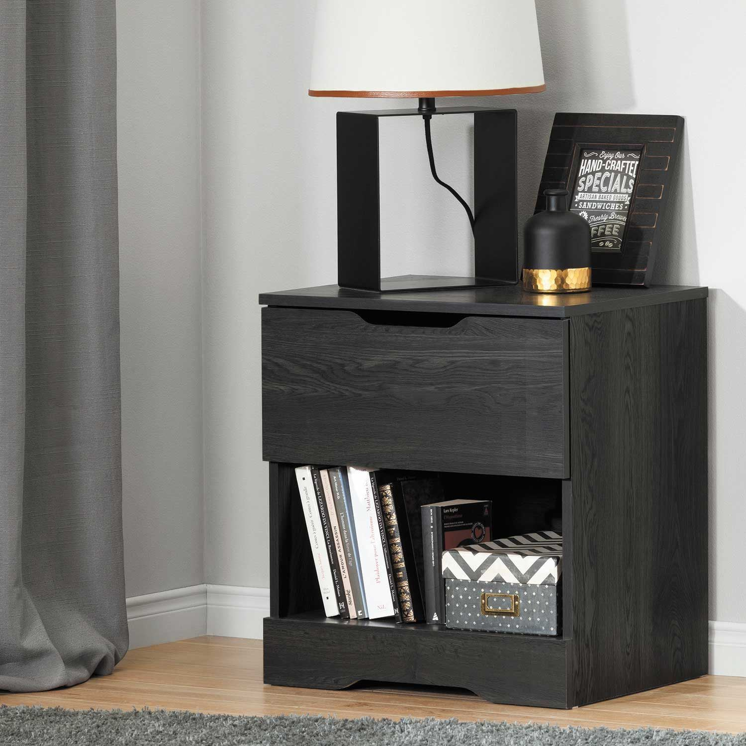 Picture of Holland Gray Oak Nightstand