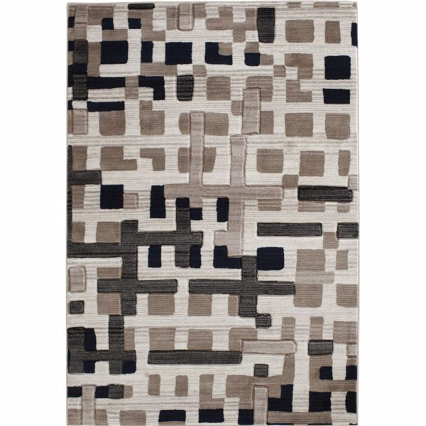 Picture of Apex Pirro Beige White 8x10 Rug