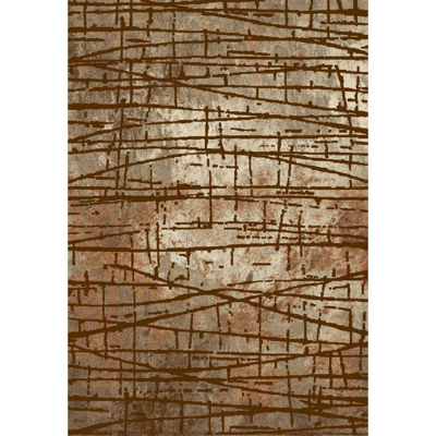 Picture of Brown Scattered Sticks 5x7 Rug