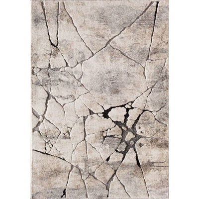 Picture of Grey Beige Crackle 5x7 Rug