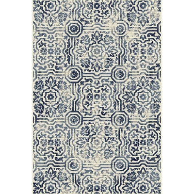 Picture of Audrina Blue Panels 5x8 Rug