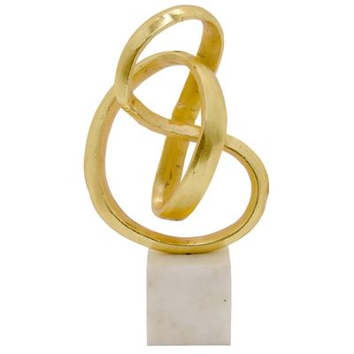 Picture of Gold Sculpture With Marble Base
