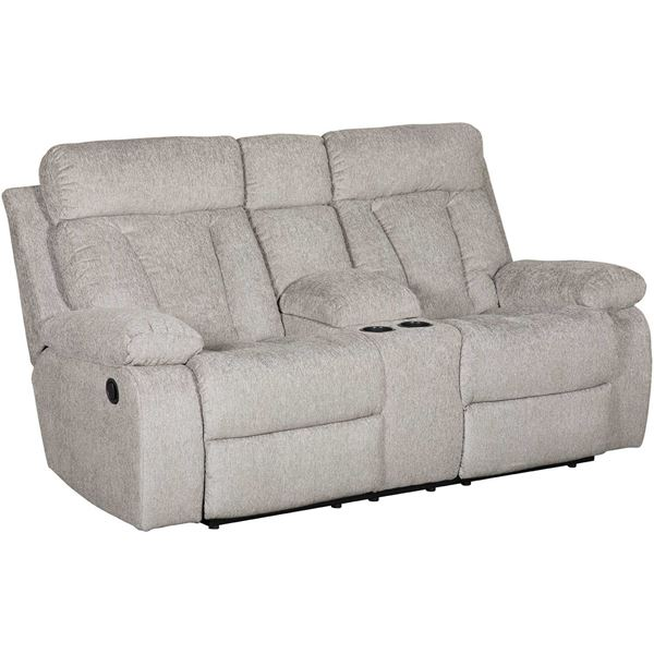 Fabulous Mitchiner Grey Reclining Console Loveseat Bralicious Painted Fabric Chair Ideas Braliciousco