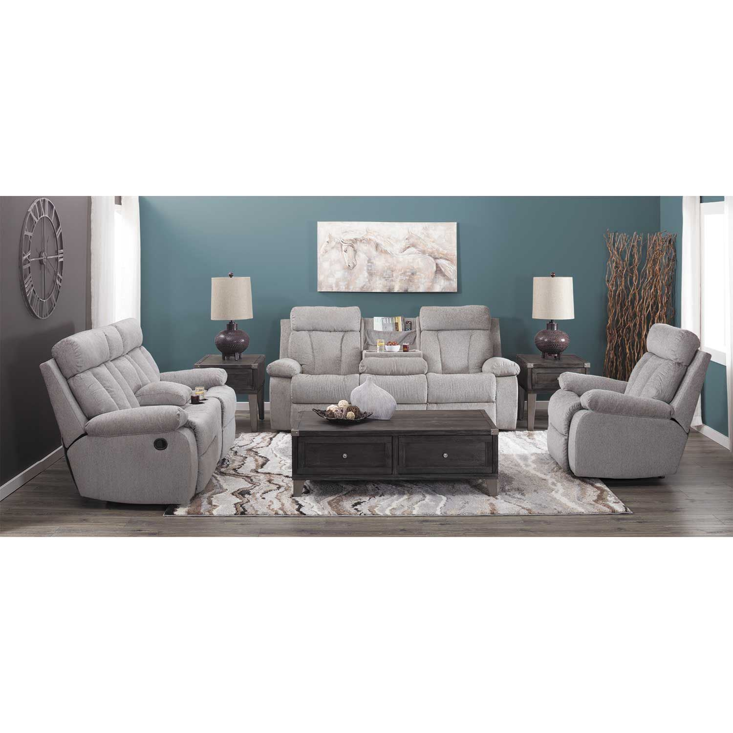 Picture of Mitchiner Grey Rocker Recliner