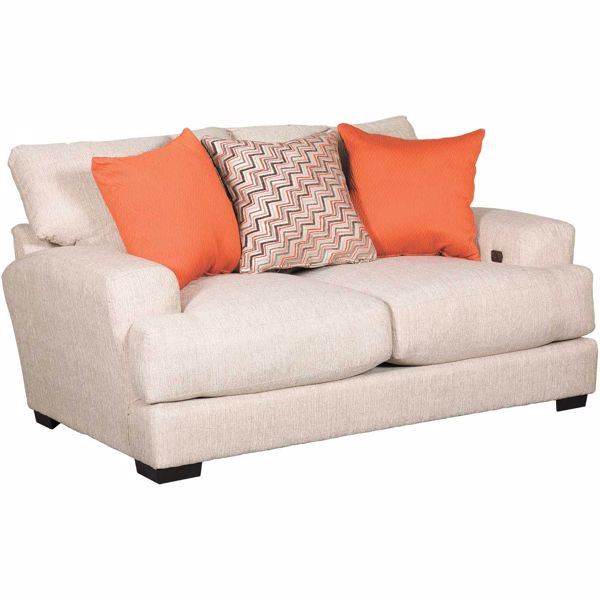 Picture of Ava Cashew Loveseat with USB Charging Ports