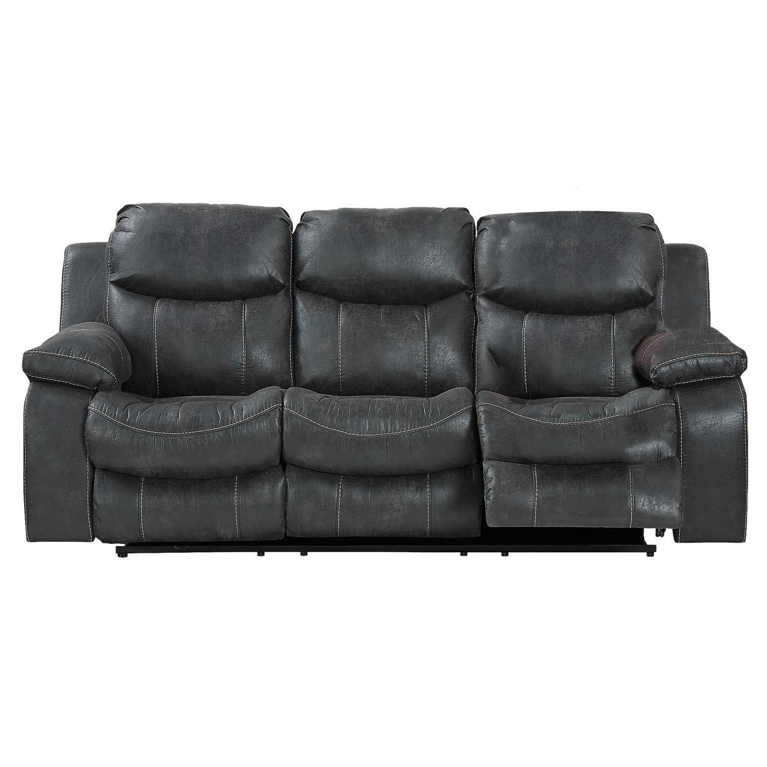 Stupendous Steel Power Reclining Sofa Bralicious Painted Fabric Chair Ideas Braliciousco