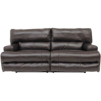 Picture of Wembley Chocolate Italian Leather Reclining Sofa