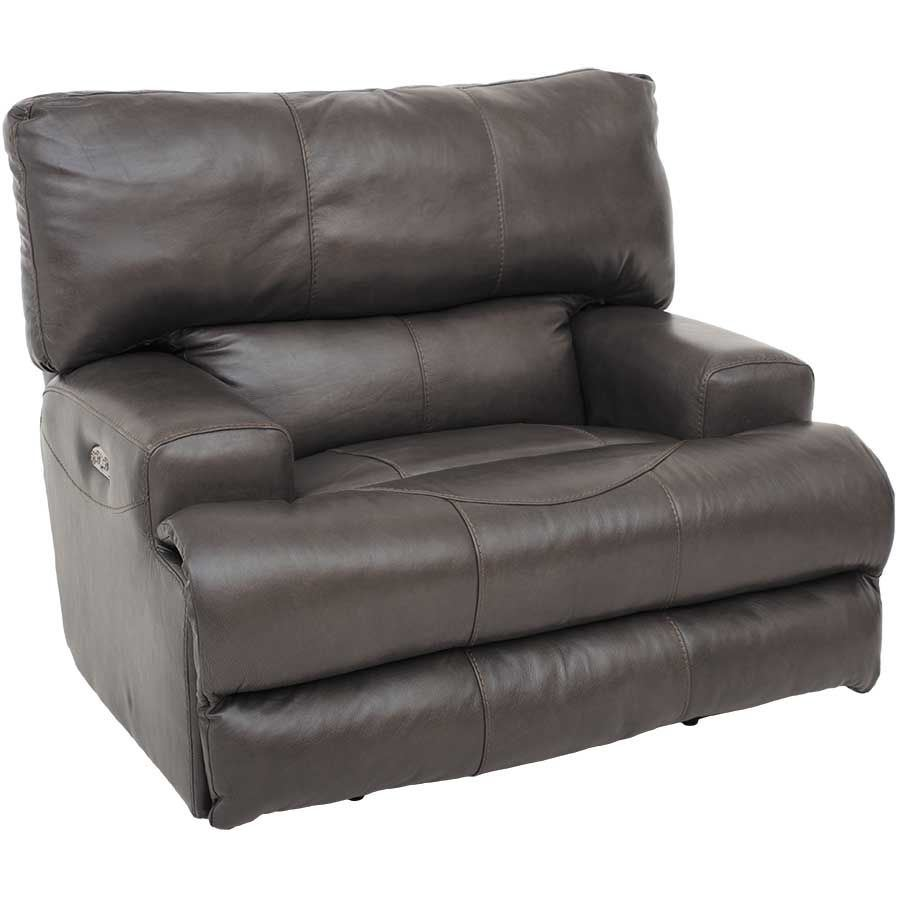 Picture of Wembley Steel Italian Leather Recliner