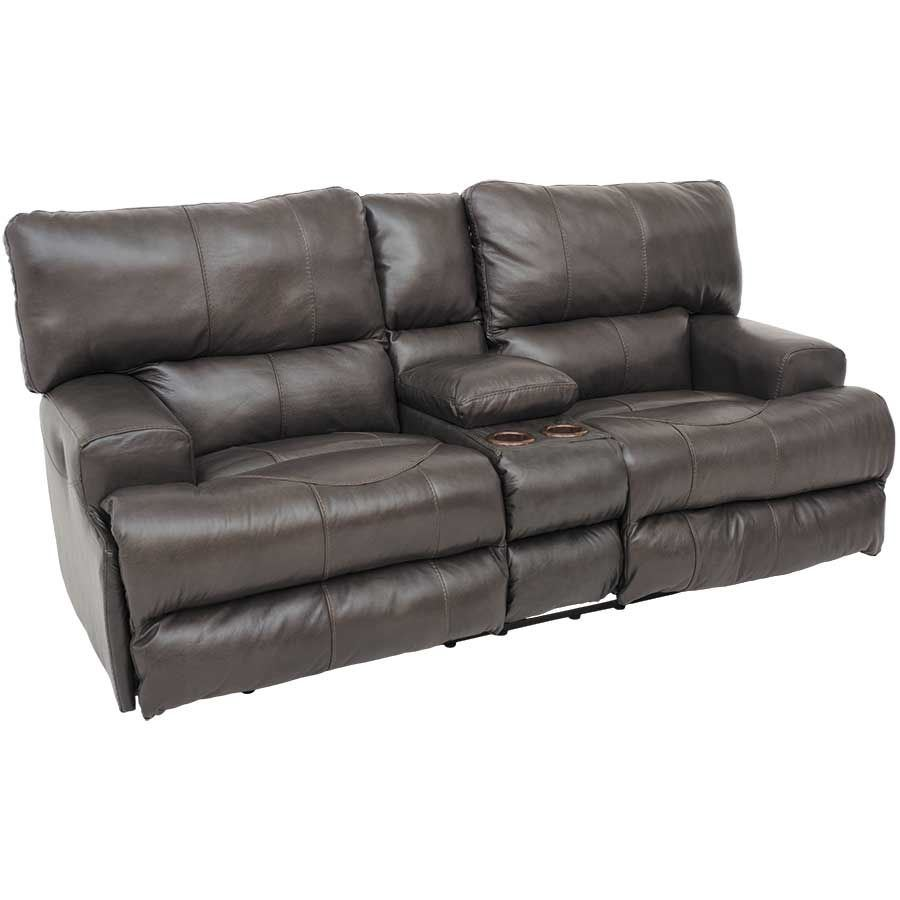 Wembley Steel Italian Leather Reclining Loveseat 4589