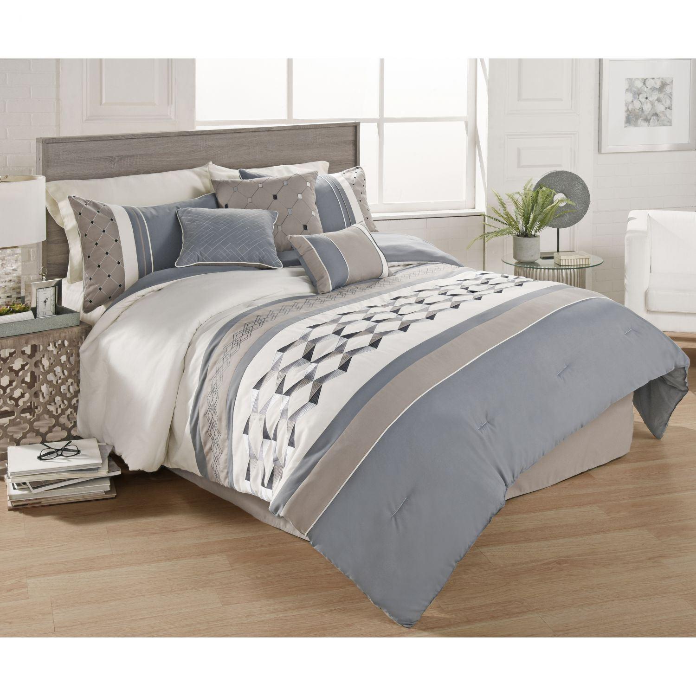 Bailey 7 Piece King Comforter Set