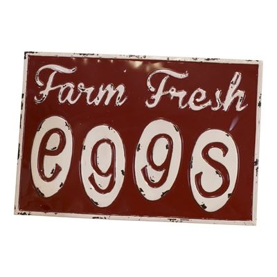 Picture of Red Farm Fresh Eggs Sign