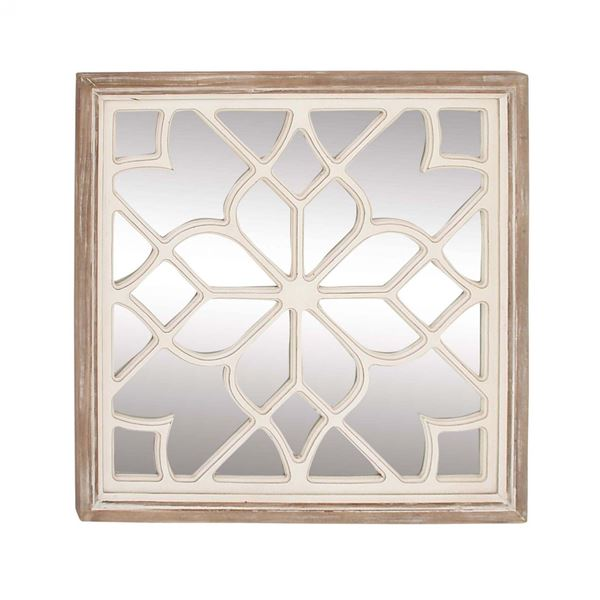 Picture of Wood Mirror With Fretwork Design