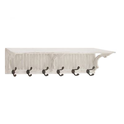 Picture of White Shelf With Hooks