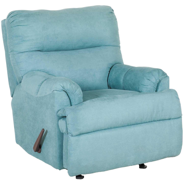 Affordable Furnitures: Aden Capri Blue Rocker Recliner