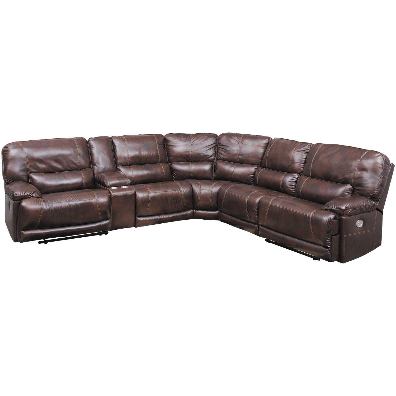 Killamey 6 Piece Power Reclining Sectional Ashley Furniture Afw