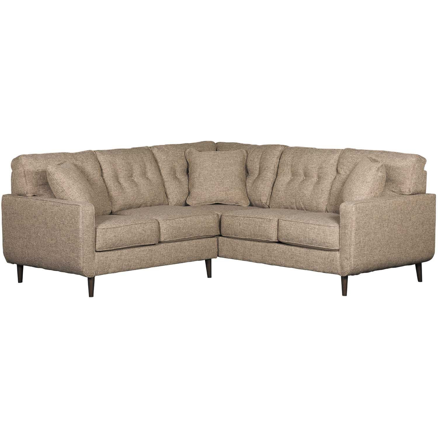 Picture of chento jute 2pc sectional w raf sofa