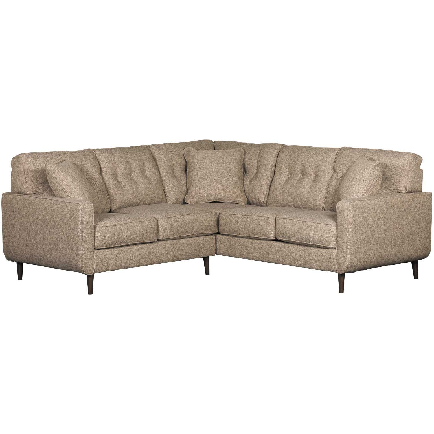 Chento Jute 2PC Sectional w/ RAF Sofa