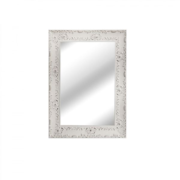 Picture of White Distressed Wall Mirror