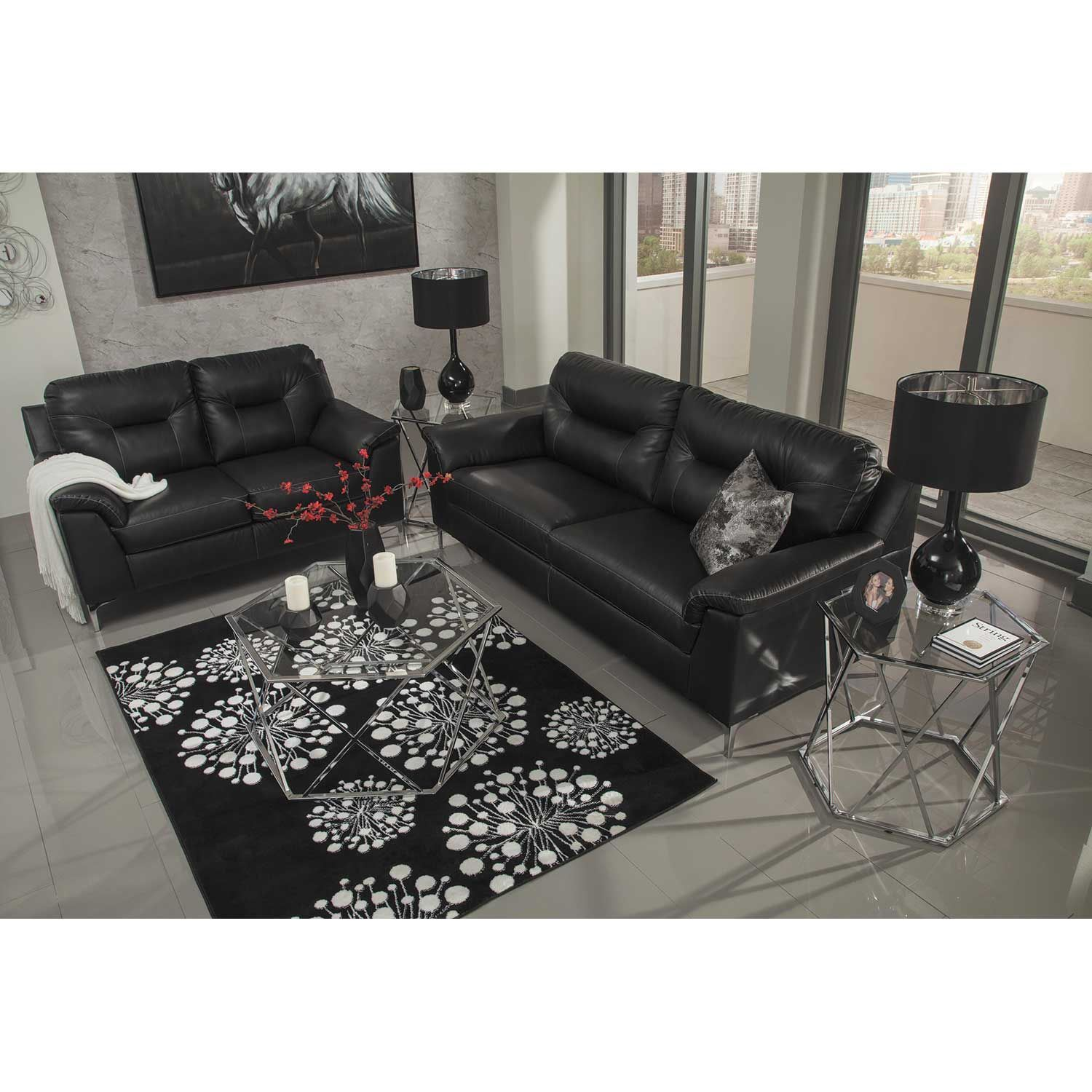 Picture of Tensas Black Loveseat