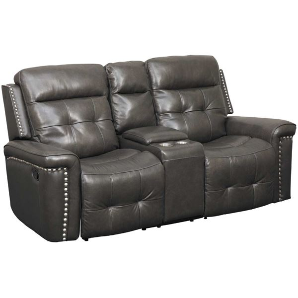 Picture of Kenzie Leather Power Reclining Console Loveseat