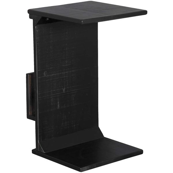 Picture of Black Manor House Chairside Table with Magazine Rack