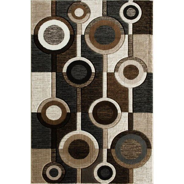 Picture of Alburnett Brown Circles 8x10 Rug