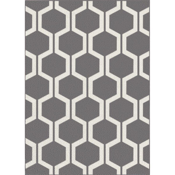 Picture of Asian Grey White 5x7 Rug