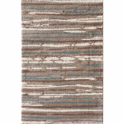 Picture of Lemars Linear Mocha Teal 5x7 Rug