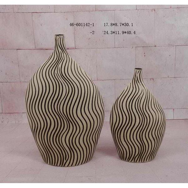 Picture of Ivory Espresso Stripe Vase