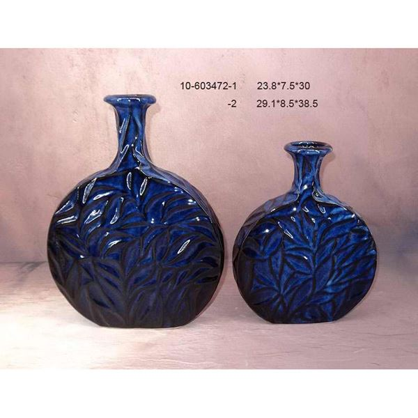 Picture of Deep Blue Leaf Vase