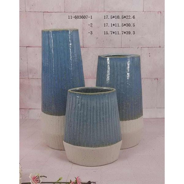 Picture of Stone Blue Two Tone Vase