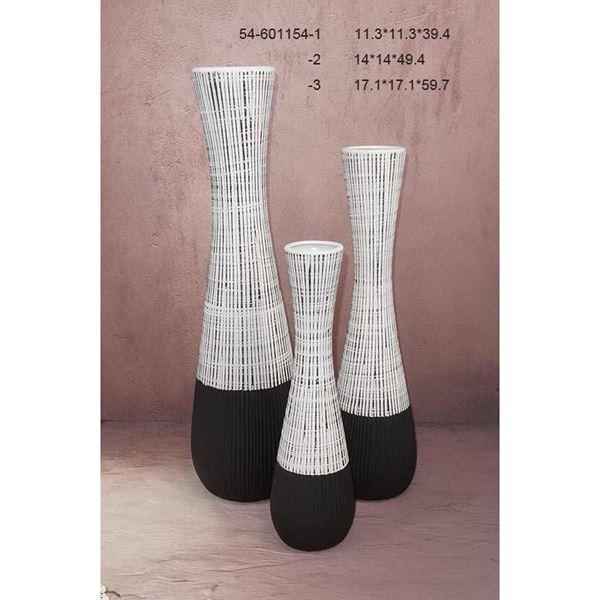 Picture of Dark Base White Top Vase