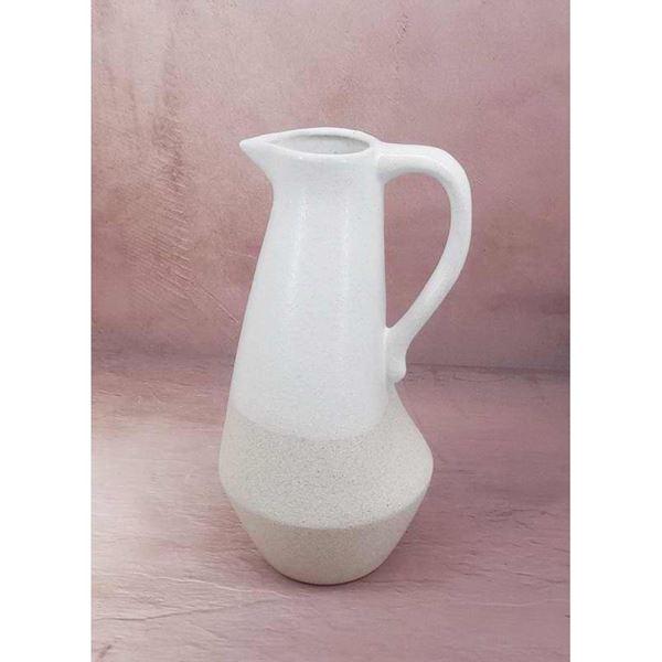 Picture of White Ceramic Pitcher