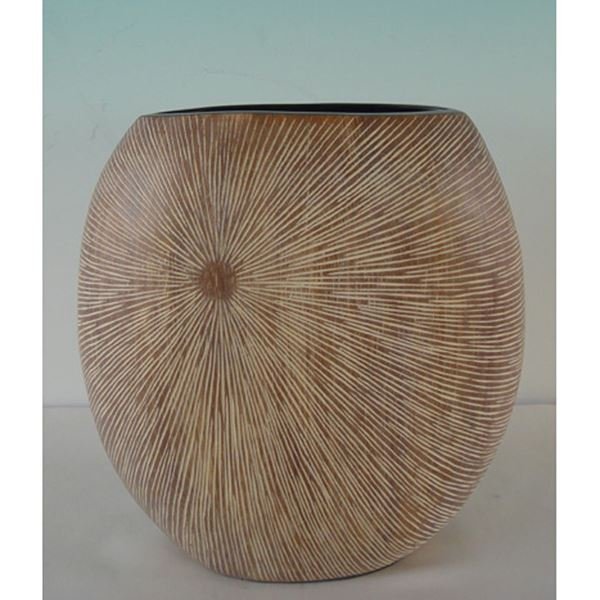 Picture of Wood Look Vase Natural