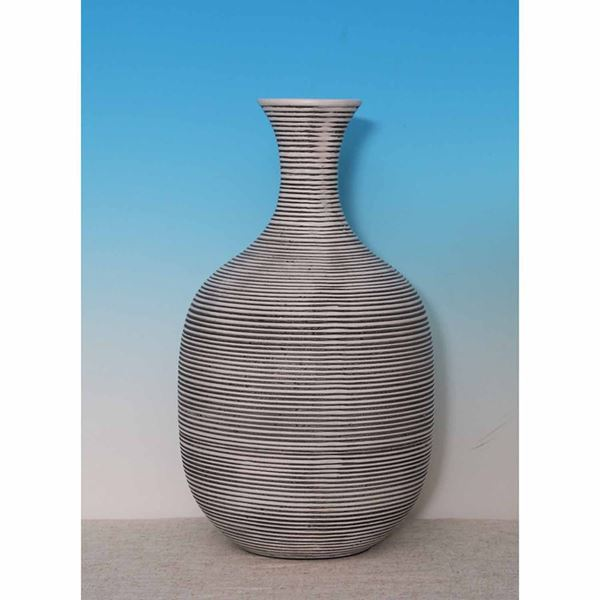 Picture of Large Black Lined Natural Vase