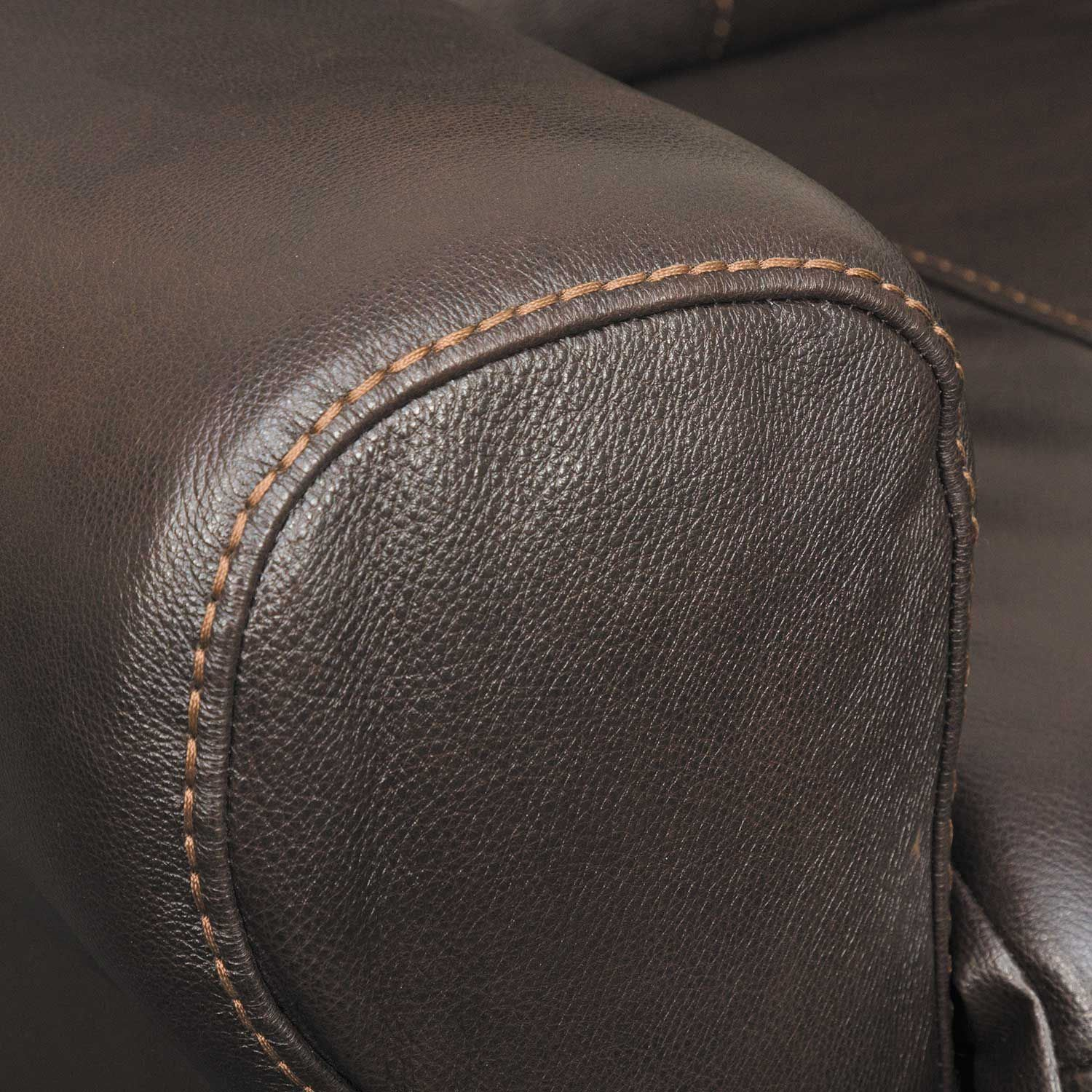 Picture of Hoffner Chocolate Italian Leather Power Recliner