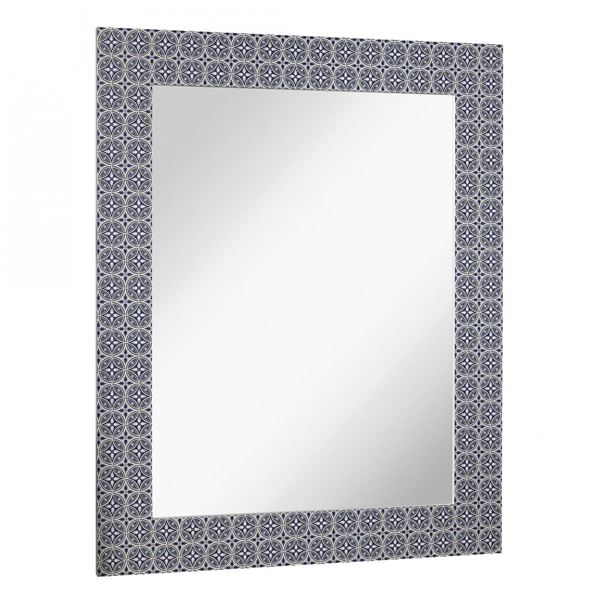 Picture of Blue Pattern Wall Mirror