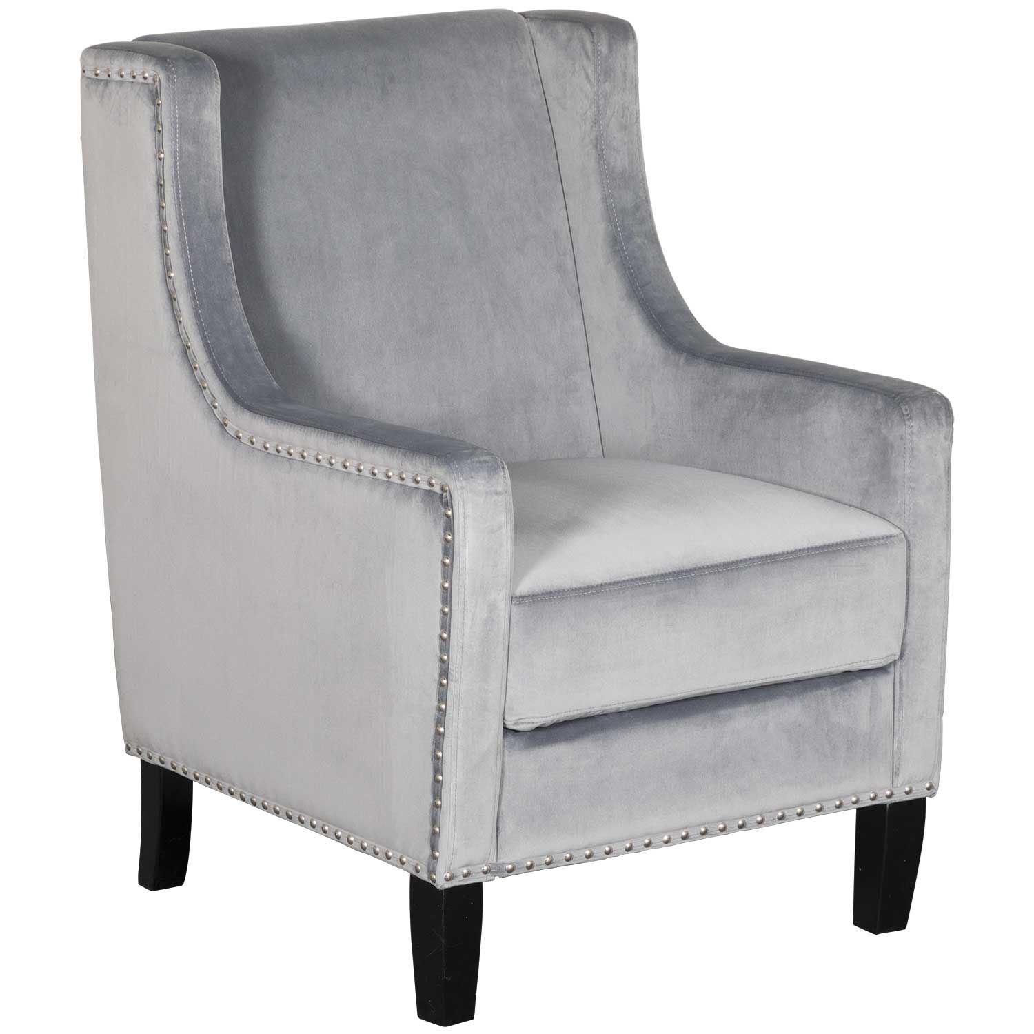 Awesome Claire Grey Accent Chair Caraccident5 Cool Chair Designs And Ideas Caraccident5Info