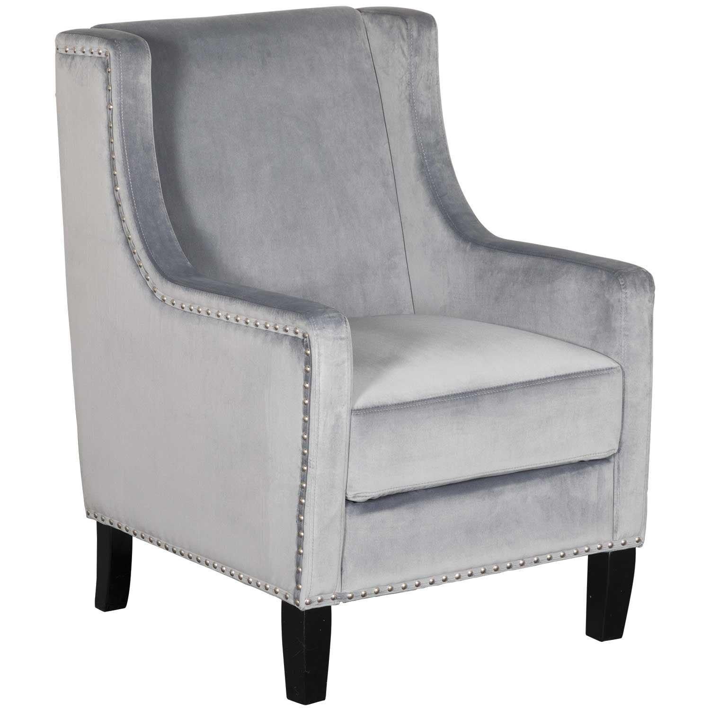 Stupendous Claire Grey Accent Chair Machost Co Dining Chair Design Ideas Machostcouk