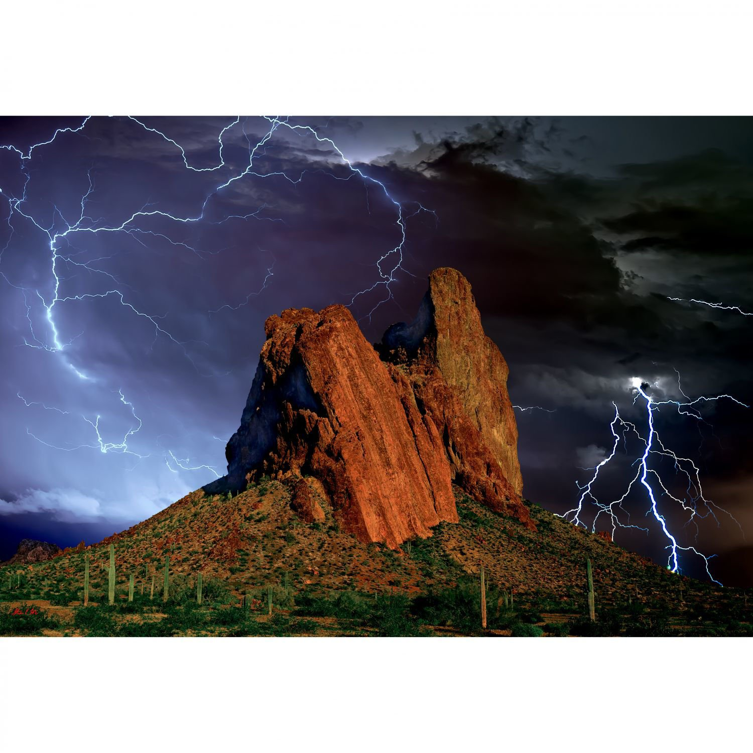 Picture of Courthouse Rock Wrath of The Judge 24x36 *D