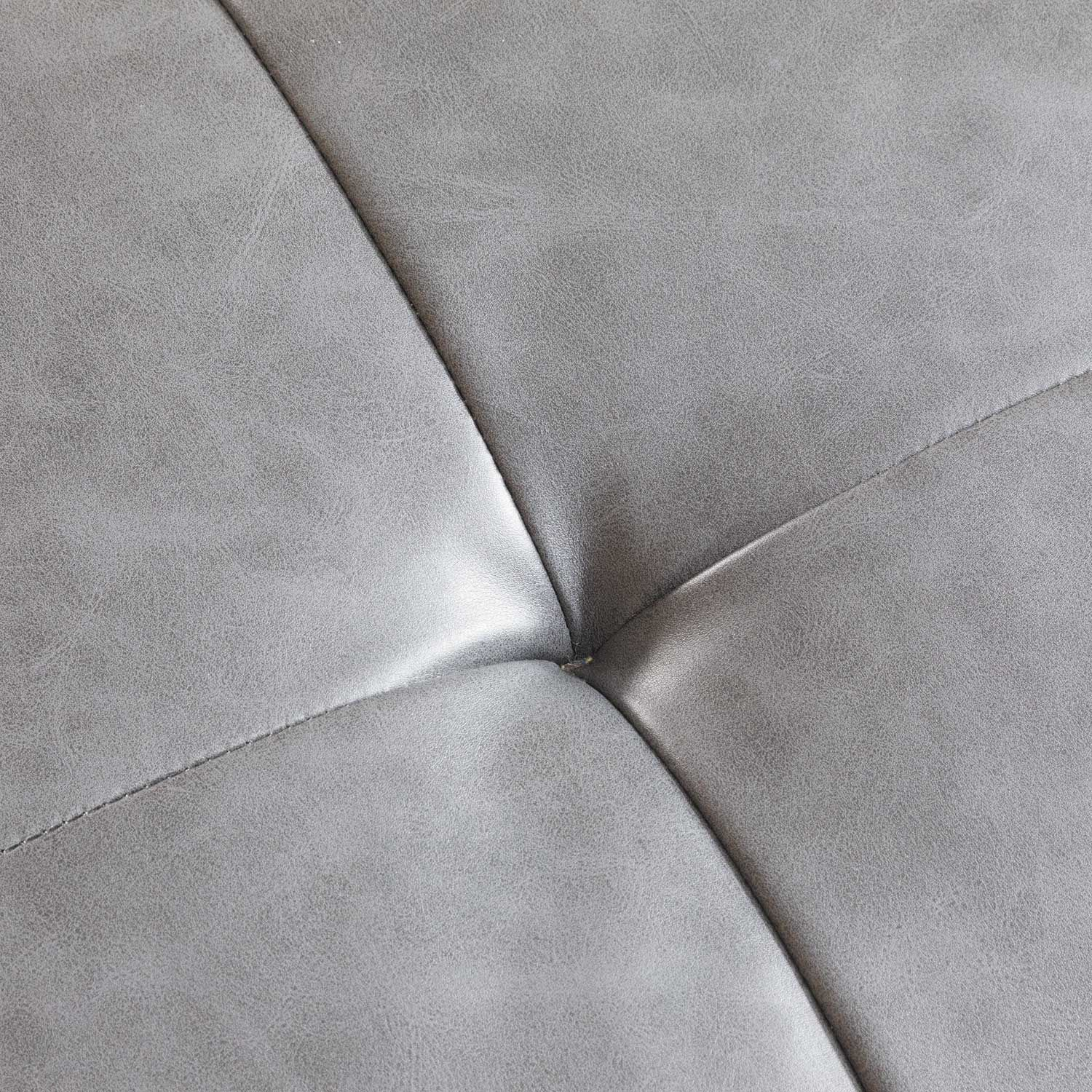 Tremendous Gray Bonded Leather Ottoman Theyellowbook Wood Chair Design Ideas Theyellowbookinfo