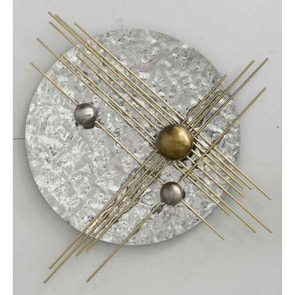 Picture of Gold and Silver Metal Wall Decor