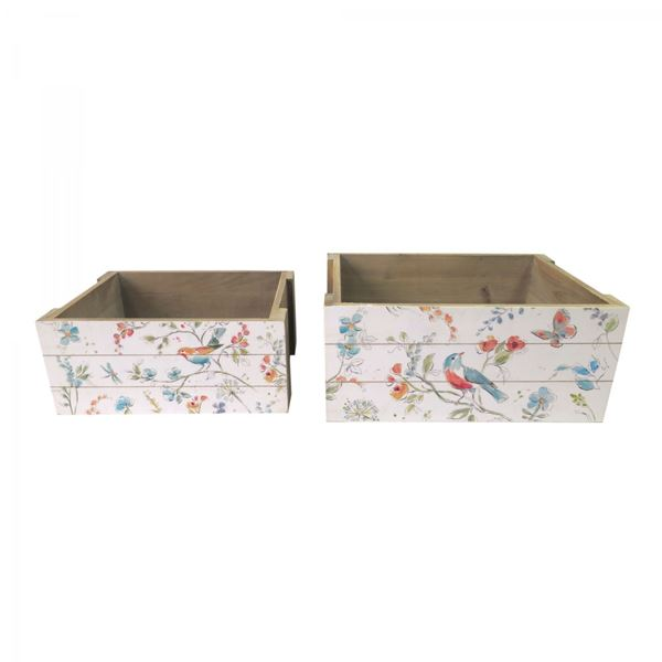 Picture of Set of 2 Floral Boxes