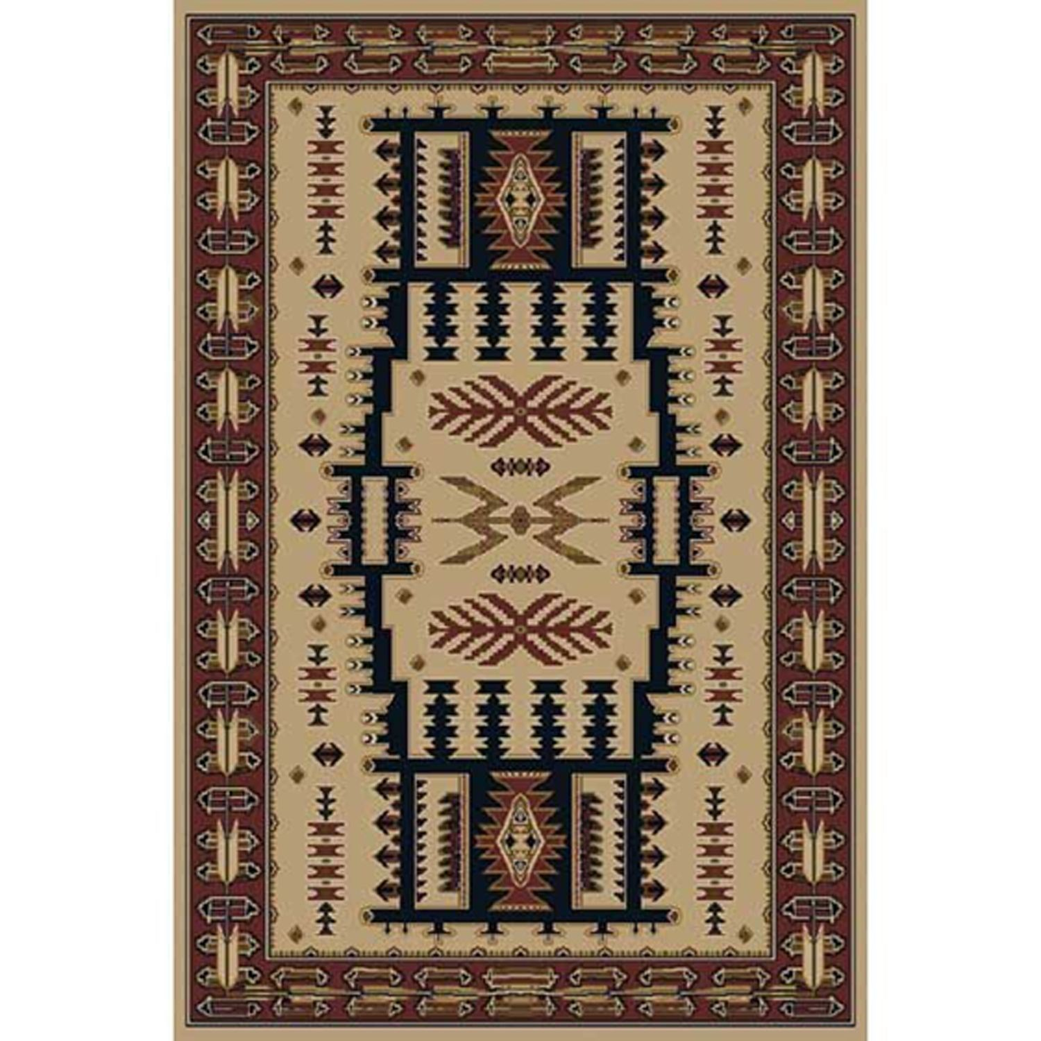 Mountain Country Rustic Linen 8x10 Rug Orian Rugs 166