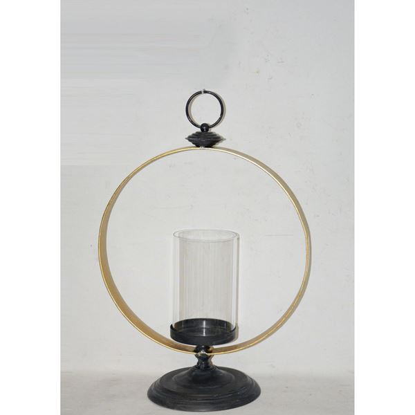 Picture of Circle Glass Metal Candle Holder
