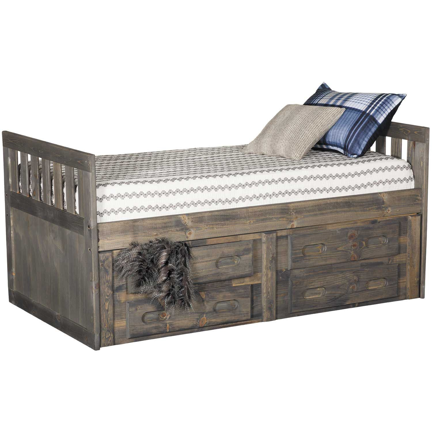 Cheyenne Slatted Twin Captains Bed With Underbed Storage 4813dw
