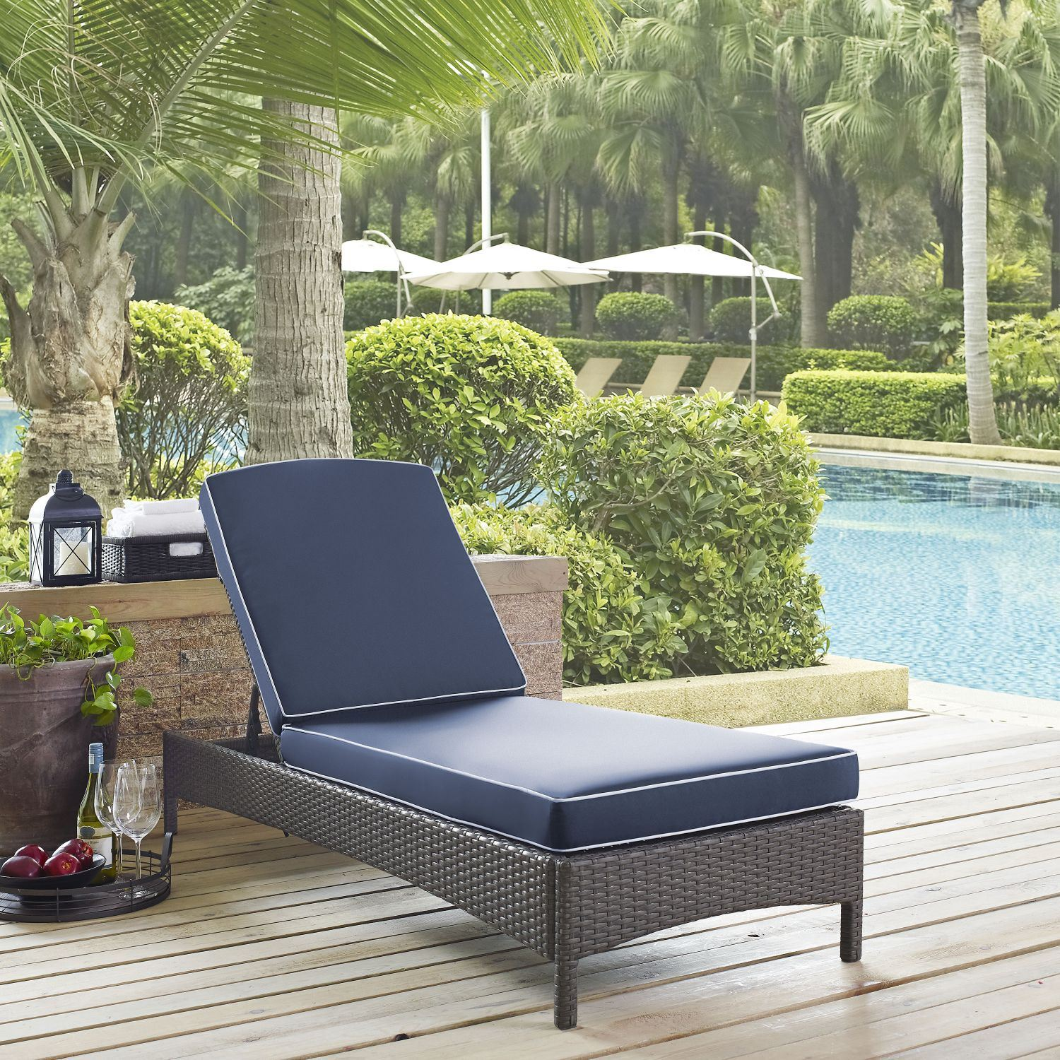 palm harbor outdoor wicker chaise lounge d
