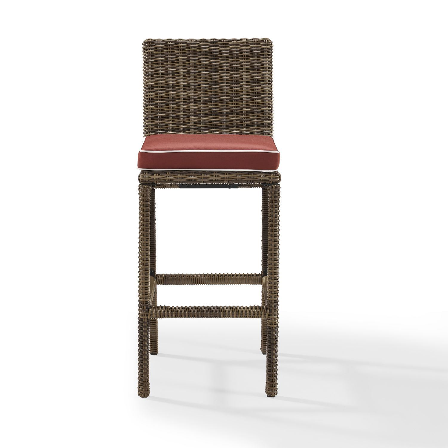 Picture of BRADENTON OUTDOOR WICKER BAR HEIGHT STOOLS W/SANGRIA CUSHION