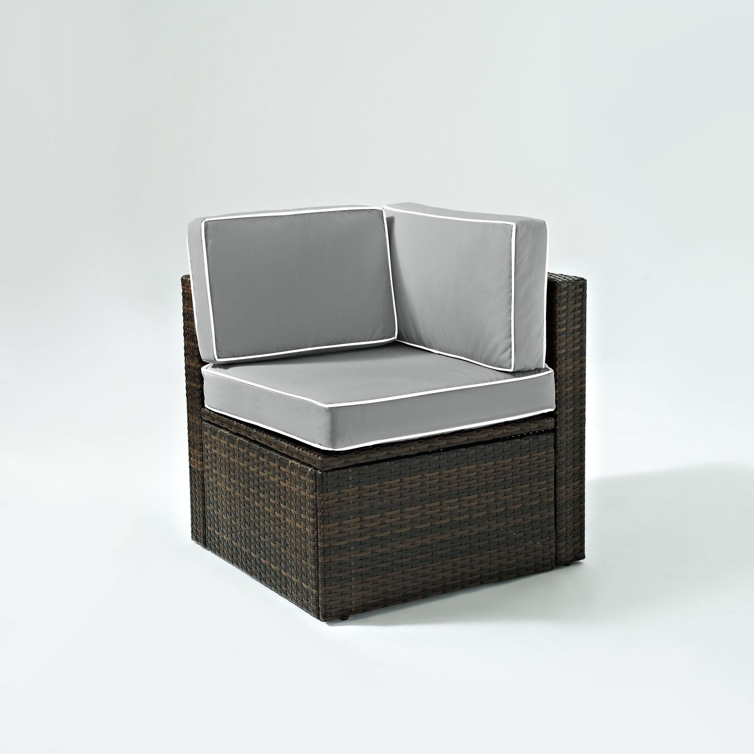 Picture of PALM HARBOR OUTDOOR WICKER CENTER CHAIR IN BROWN W